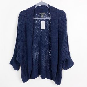 NWT Lane Bryant Open Weave Open Front Cardigan